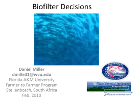 Biofilter Decisions - West Virginia University