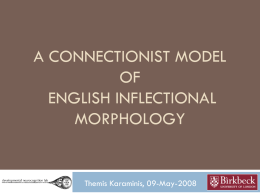 Connectionist modelling of Specific Language Impairment