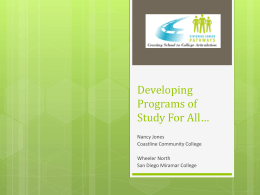Developing Programs of Study For All…