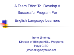 Intervention For Secondary English Language Learners