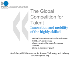 The Global Competition for Talent