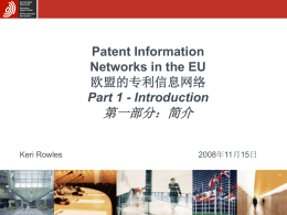 Patent Information Networks in the EU