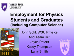 Careers in Physics—Getting a Job with Your Degree