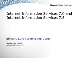 IPD - Internet Information Services version 2.2
