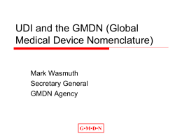Global Regulation & Nomenclature of Medical Devices