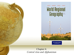 Chapter 6 - Central Asia and Afghanistan