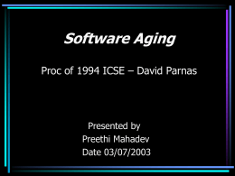 Proc. of 1994 ICSE By David Parnas
