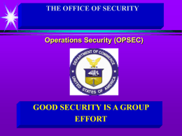 Operations Security (OPSEC) Program Managers Course