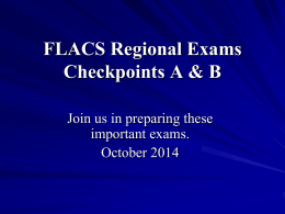 Description of FLACS World Language Regional …
