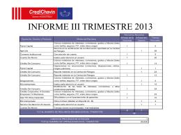 INFORME II TRIMESTRE 2013
