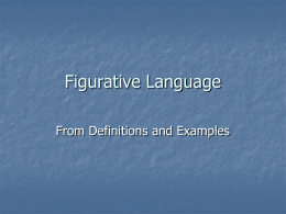 Figurative Language - ESL