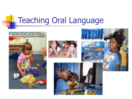 Teaching Oral Language - Department Of Education NT