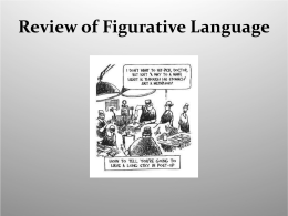 Unit on Figurative Language