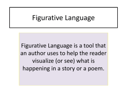 Figurative Language - Council Rock School District / …