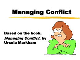 Managing Conflict - California State University, Los Angeles