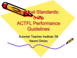 National Standards: 5 C's