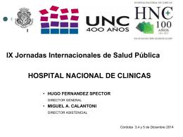 IX JORNADAS ESCUELA DE SALUD PUBLICA 2014