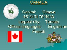 CANADA - tserna