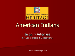 Early Native Inhabitants of Arkansas