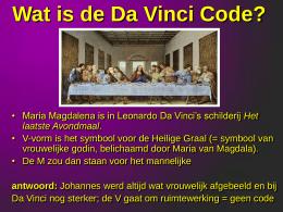 Da Vinci Code PowerPoint Presentatie