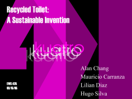 Recycled Toilet: A Sustainable Invention