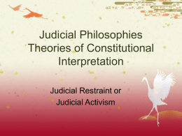 Judicial Philosophy - Parkland School District