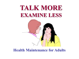 TALK MORE EXAMINE LESS - Sonoma State University