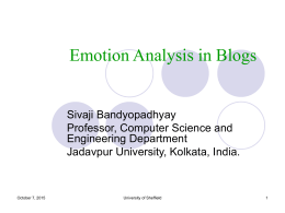Emotion in Blog
