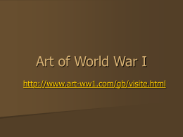 Art of World War I - Raleigh Charter High School