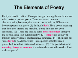 The Elements of Poetry