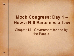 Mock Congress: Day 1 - Writing bills and how they …