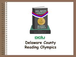 Delaware County Reading Olympics 2009