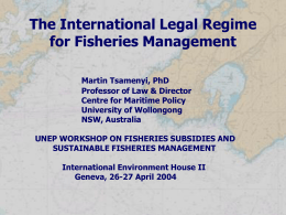 International Fisheries Law - UNEP