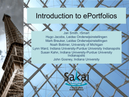Introduction to ePortfolios
