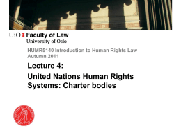 HUMR5140 Introduction to Human Rights Law Autumn …