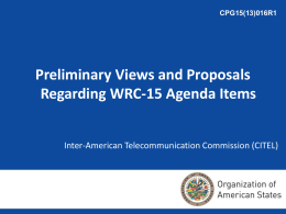Inter-American Telecommunication Commission (CITEL)