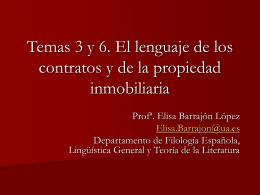 Temas 3 y 6. El lenguaje de los contratos y de la