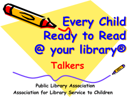 PLA / ALSC Preschool Literacy Initiative