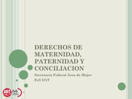 DERECHOS DE MATERNIDAD, PATERNIDAD Y …