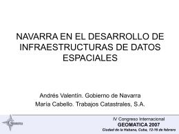 Navarra en el desarrollo de Infraestructuras de Datos
