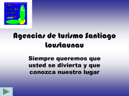 Agencias de turismo Santiago Loustaunau