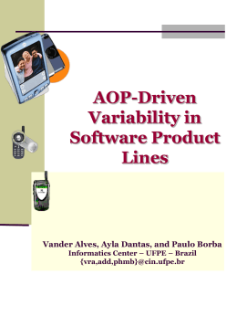Feature Variation for Product Lines in Pervasive Computing