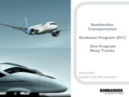Bombardier standard presentation