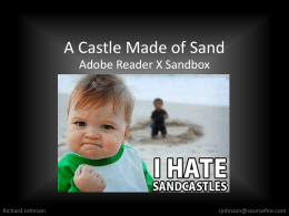 A Castle Made of Sand - CanSecWest Applied Security