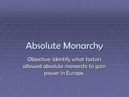 Absolute Monarchy - Mesa Public Schools