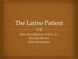 The Latino Patient - Samuel Merritt University