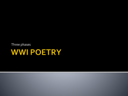 WWI POETRY - Wikispaces