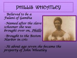 PHILLIS WHEATLEY - High Point University
