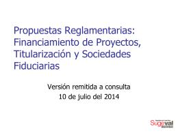 Normativa en consulta sobre el Financiamiento de …