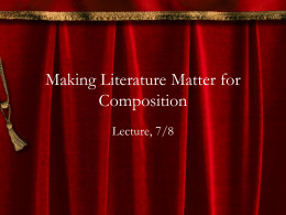 Making Literature Matter for Composition